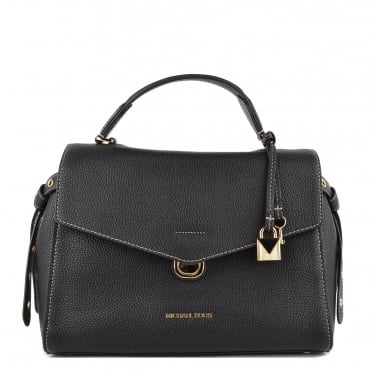 Bristol Black Leather Medium Satchel