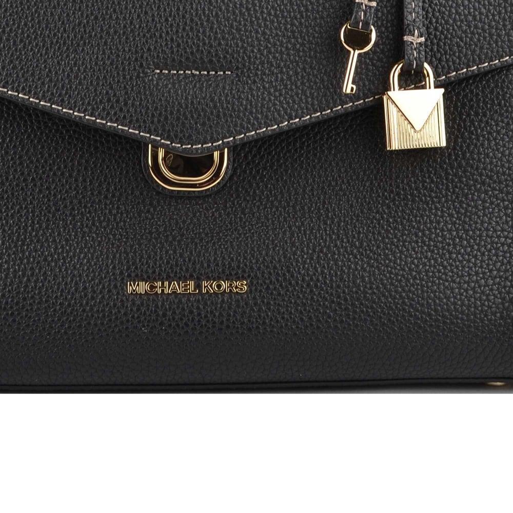 97789e2082da5 MICHAEL MICHAEL KORS Bristol Black Leather Medium Satchel