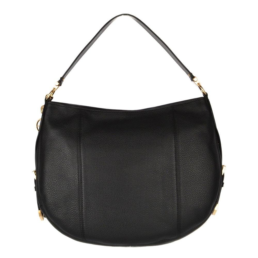 1b440c0cc3fa MICHAEL by Michael Kors Brooke Black Leather Large Hobo Bag