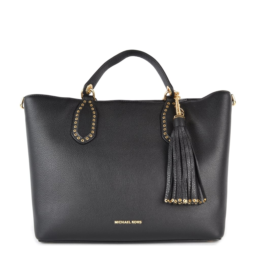 1aebda800500 MICHAEL by Michael Kors Brooklyn Black Large Grab Bag
