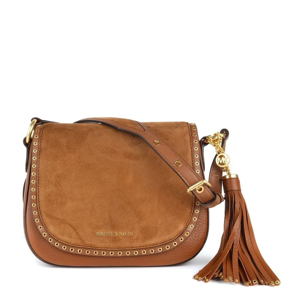 4e8dfddf0a50 MICHAEL by Michael Kors Brooklyn Tan Medium Saddle Bag