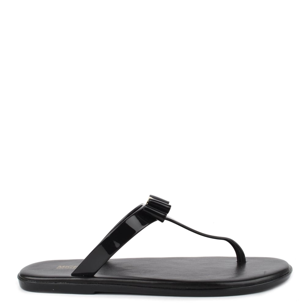 5d9680df3 MICHAEL by Michael Kors Caroline Black Thong Jelly Sandal