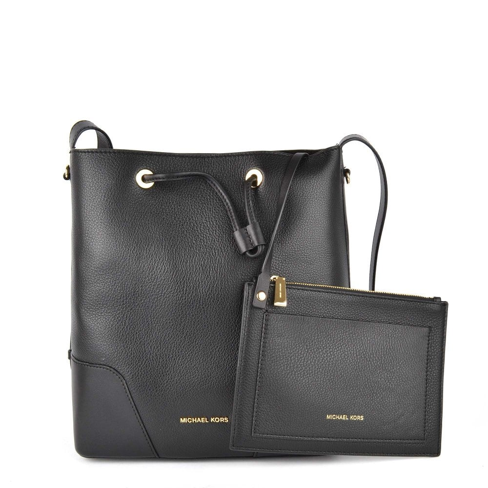 546d432025ef Shop The Michael Kors Cary Medium Black Leather Bag On Brand Boudoir