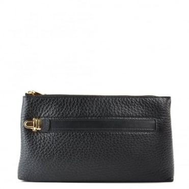 Charlton Black Medium Wristlet
