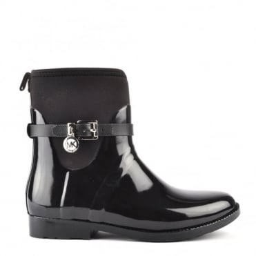 Charm 'Black' Stretch Rain Boot