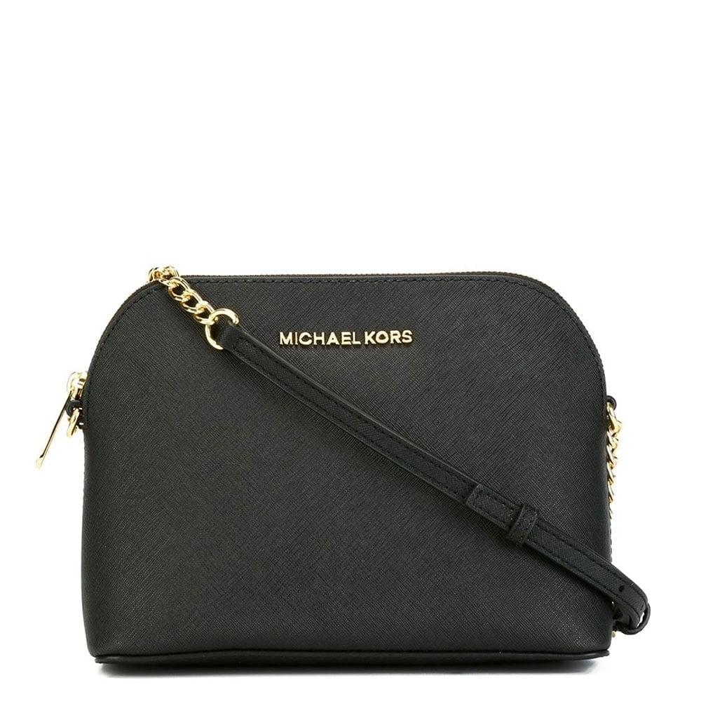 c2275eea2b25 MICHAEL Michael Kors Cindy Black Large Dome Crossbody Bag