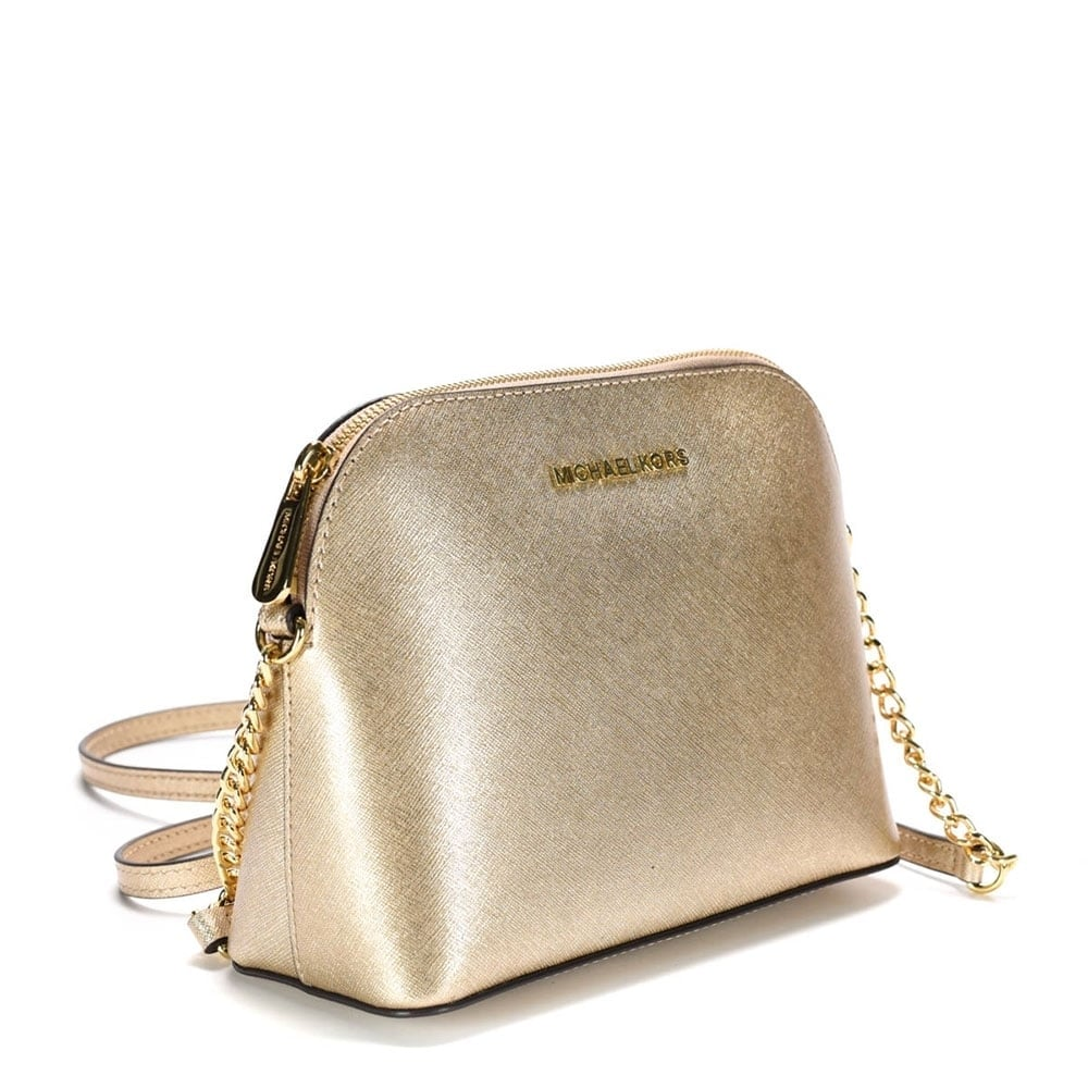 fccc304b3b85ed Cindy Pale Gold Large Dome Crossbody Bag ...
