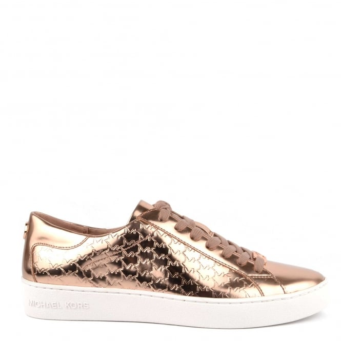 MICHAEL by Michael Kors Colby Rose Gold Embossed Trainer
