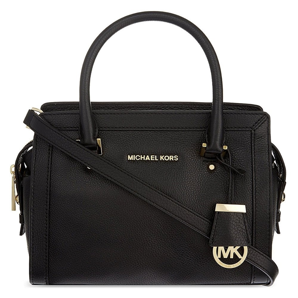 b86af859d17c MICHAEL by Michael Kors Collins Black Leather Small Tote - Women ...