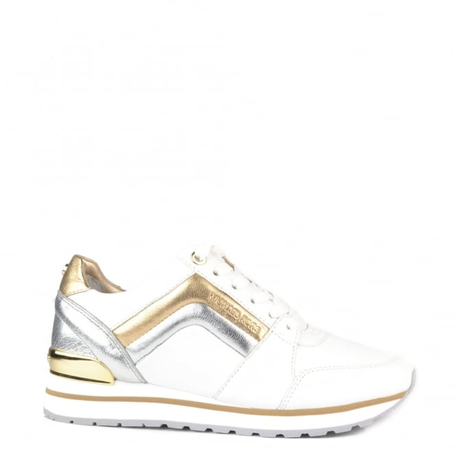MICHAEL by Michael Kors Conrad Optic White and Silver Trainer