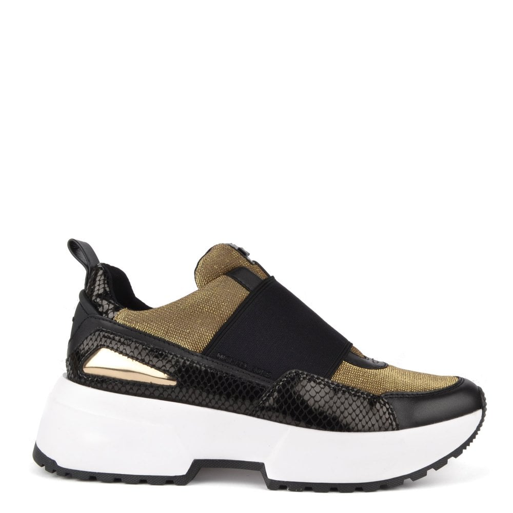 30557a71d5ec MICHAEL by Michael Kors Cosmo Gold Mesh Slip On Trainer