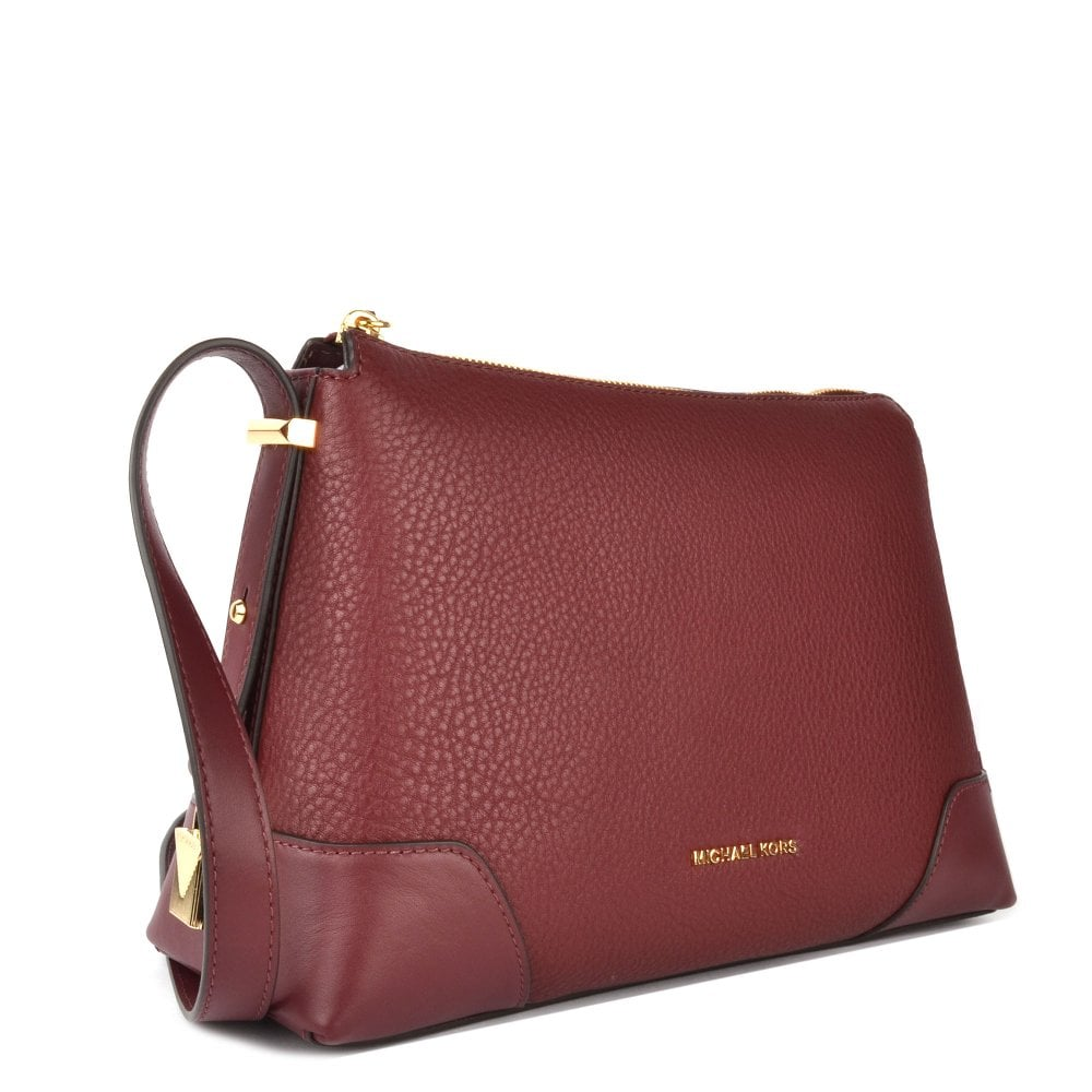 9bd7c85774417 MICHAEL MICHAEL KORS Crosby Oxblood Leather Messenger Bag