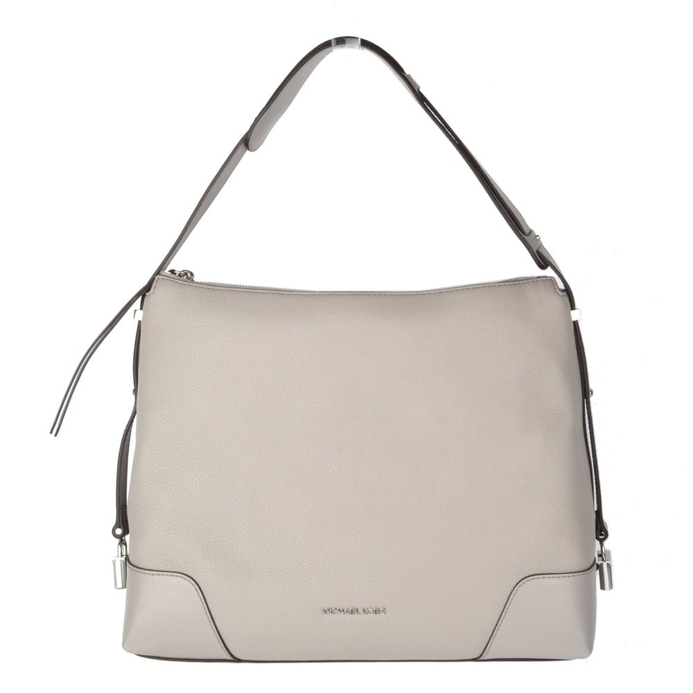0e24e8f7e1e4 MICHAEL by Michael Kors Crosby Pearl Grey Large Leather Shoulder Bag