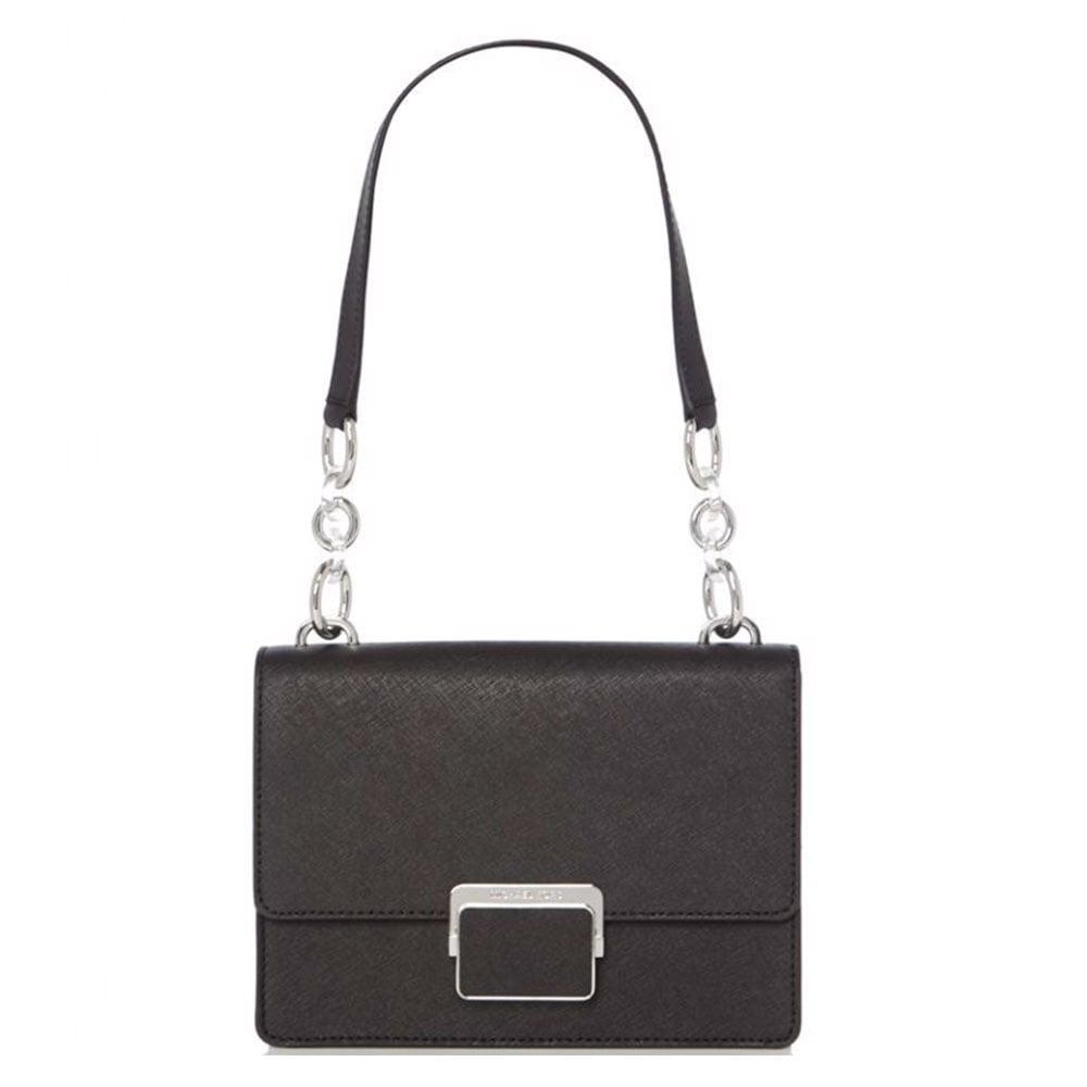 2c499314489c MICHAEL by Michael Kors Cynthia Black Small Shoulder Flap Bag