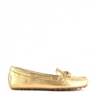 Daisy Moc Gold Leather Loafer