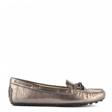 Daisy Moc Gunmetal Leather Loafer