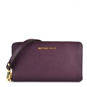 Damson 'Plum' Large Phone Case Wristlet