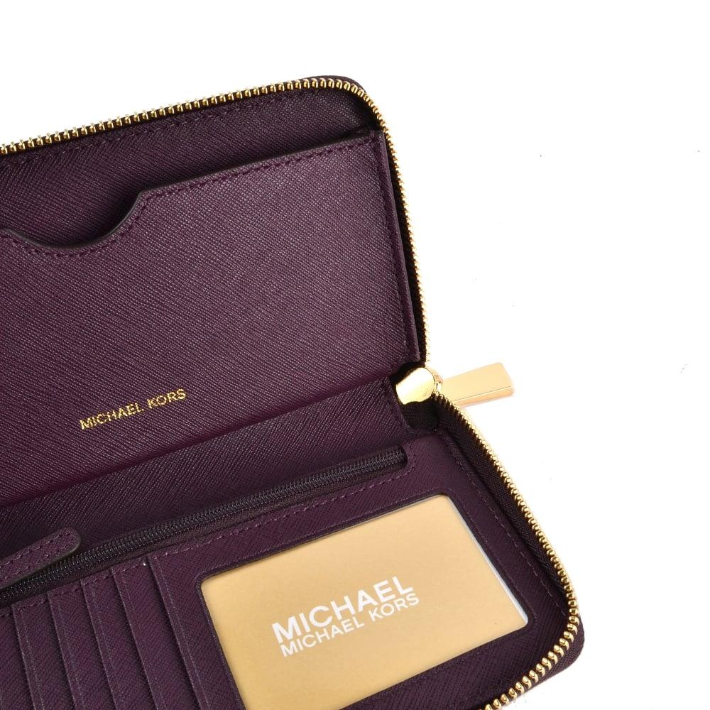 0a61c269df1ae8 MICHAEL MICHAEL KORS Damson 'Plum' Large Phone Case Wristlet