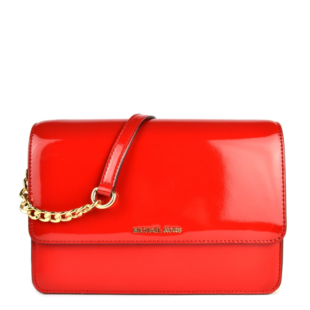 ad99a55f977d MICHAEL by Michael Kors Daniela Bright Red Large Crossbody Bag