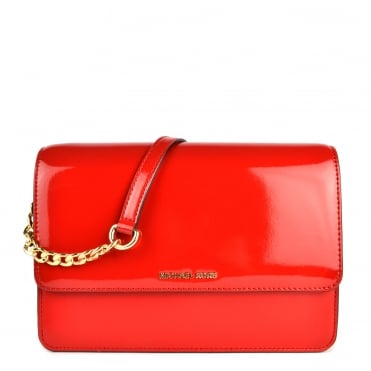 Daniela Bright Red Large Crossbody Bag