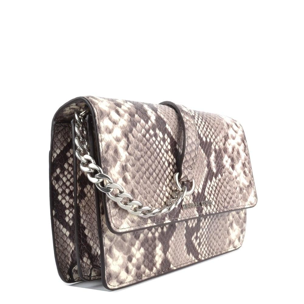 Daniela Natural 039 Python Print Crossbody Bag