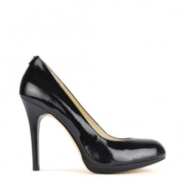 Davis Black Textured Patent Pump