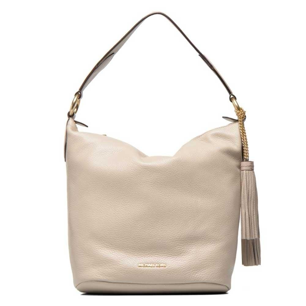 Elena Cement Beige Large Convertible Shoulder Bag