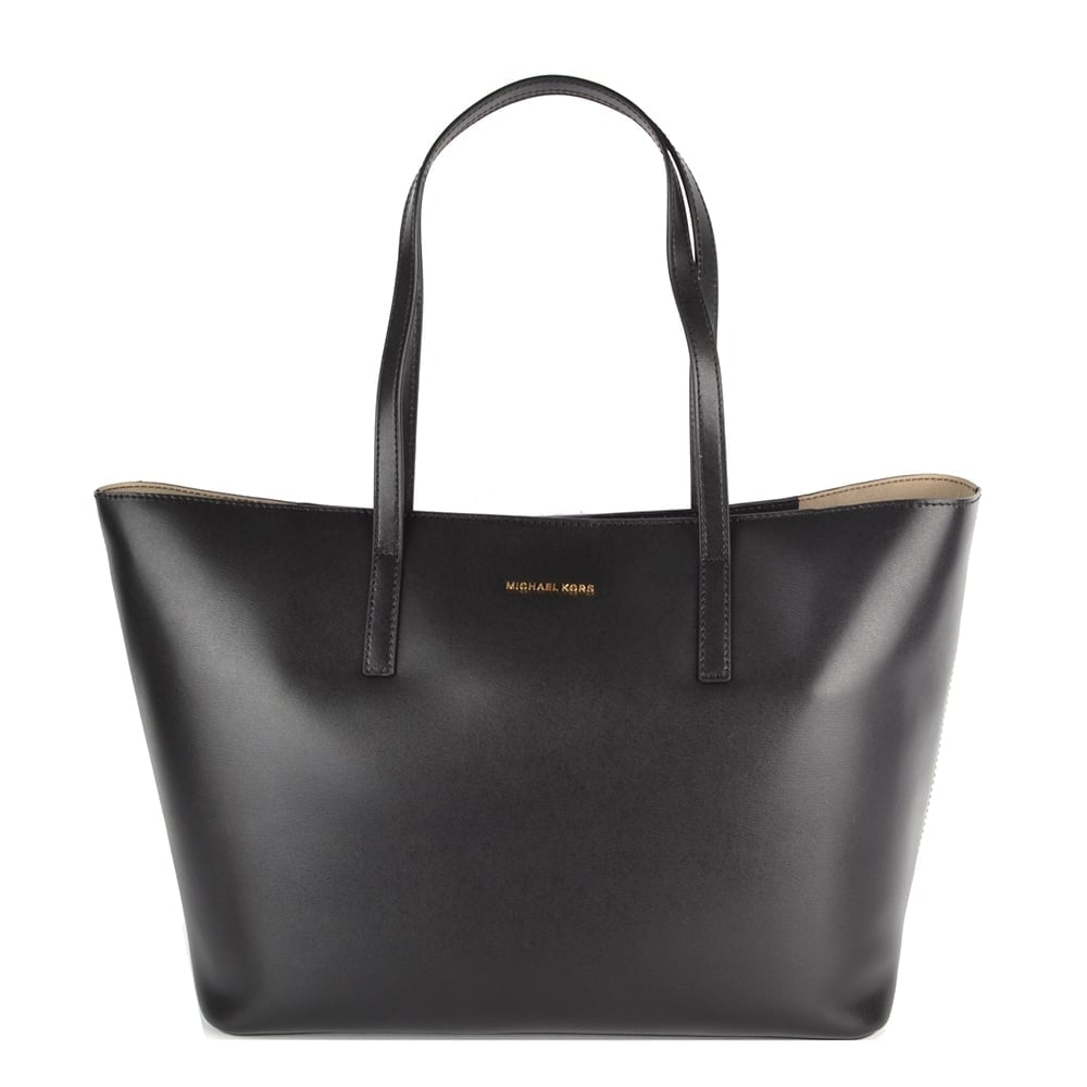 66ba8ac61bf9 MICHAEL by Michael Kors Emry Black Leather Tote