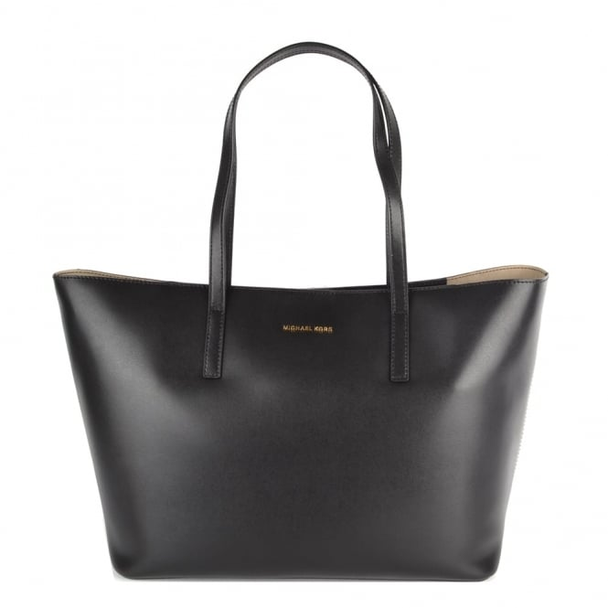 MICHAEL by Michael Kors Emry Black Leather Tote