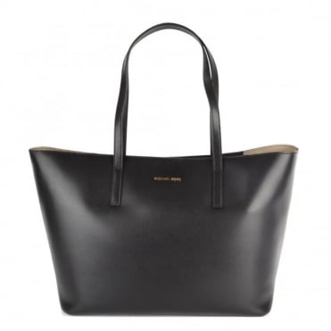 Emry Black Leather Tote
