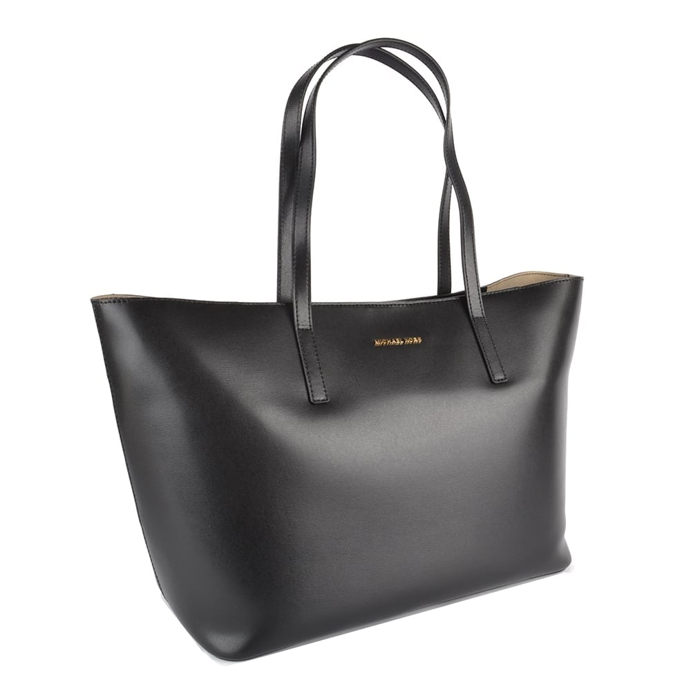 e2143a24a1e48 MICHAEL MICHAEL KORS Emry Black Leather Tote