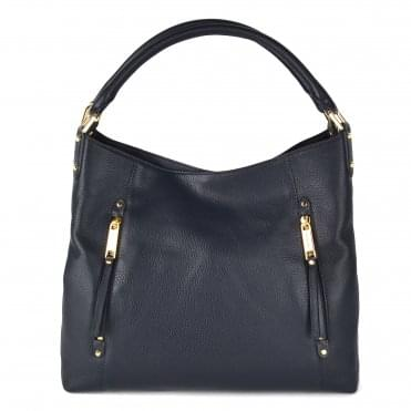 Evie Admiral Leather Large Shoulder Tote