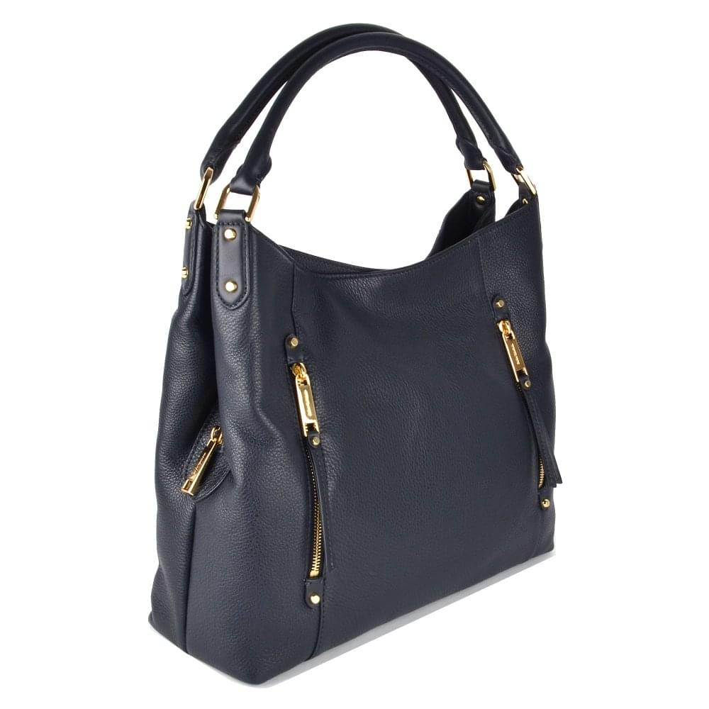 85f04af25a8aa4 MICHAEL MICHAEL KORS Evie Admiral Leather Large Shoulder Tote