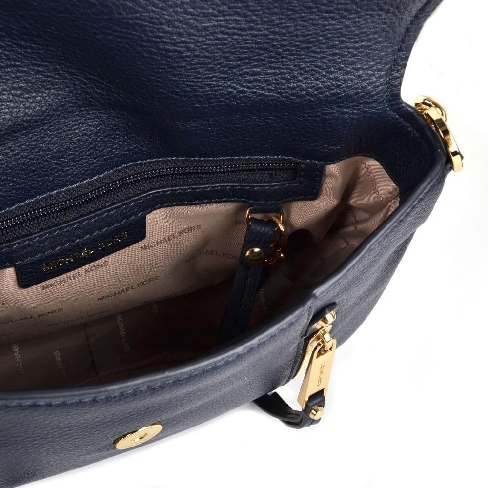 6f7ca6992a93 MICHAEL MICHAEL KORS Evie Admiral Leather Medium Shoulder Flap Bag