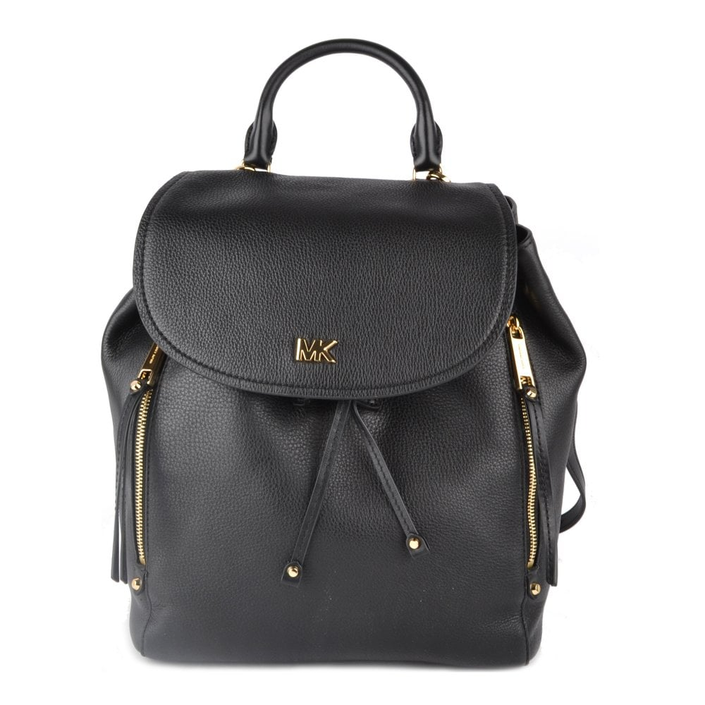 191594482343 MICHAEL by Michael Kors Evie Black Leather Medium Backpack
