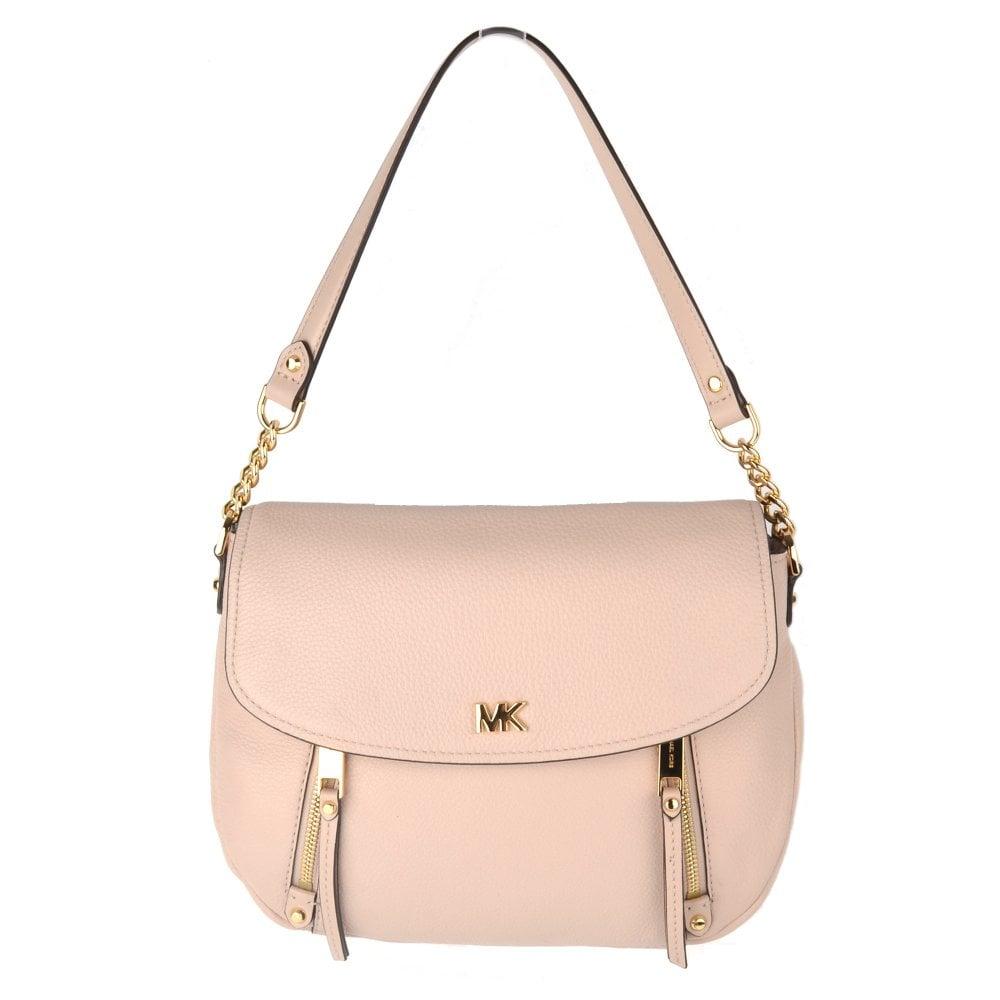 18c5a1b3f62c MICHAEL by Michael Kors Evie Soft Pink Leather Medium Shoulder Flap Bag