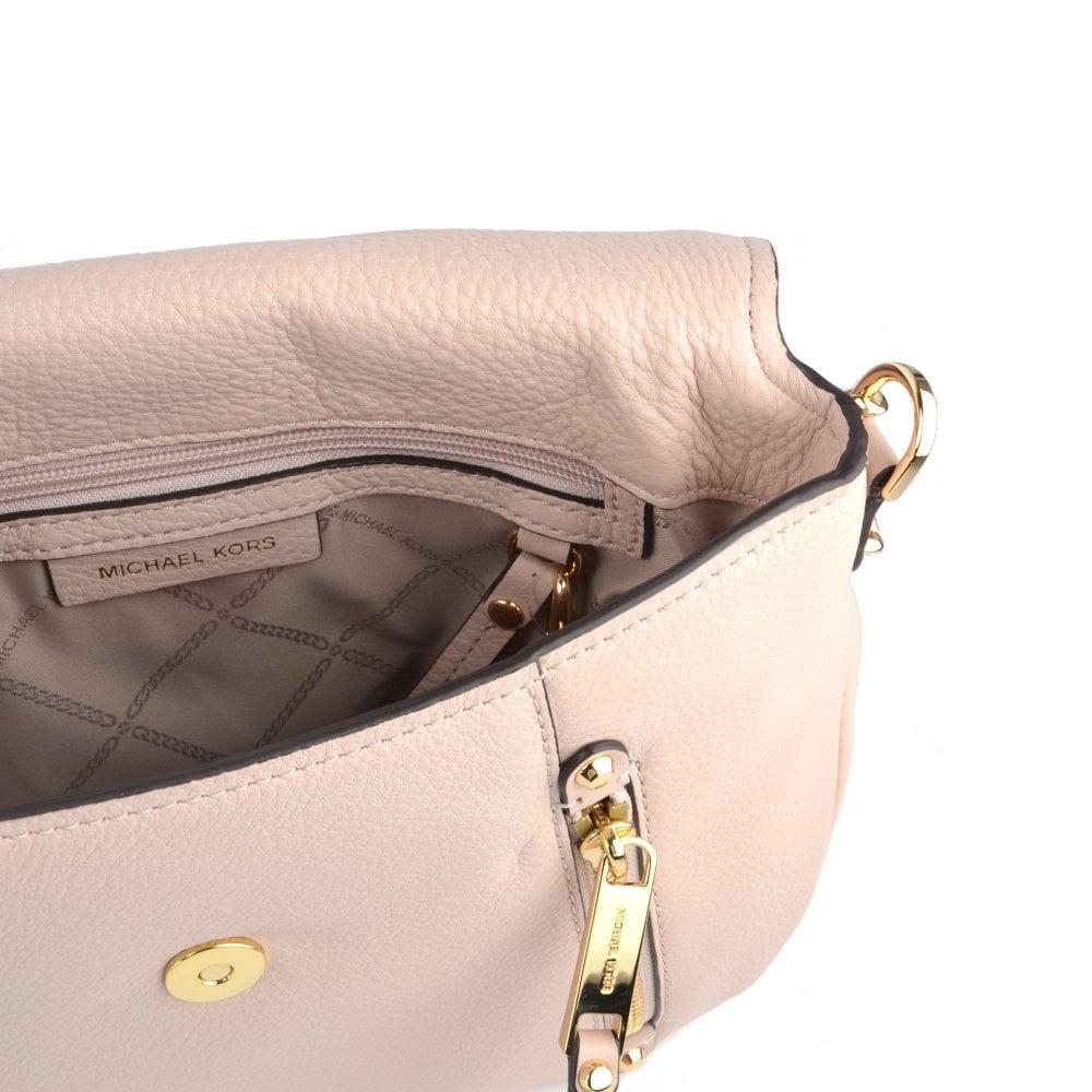 113bb8f08d1d MICHAEL MICHAEL KORS Evie Soft Pink Leather Medium Shoulder Flap Bag