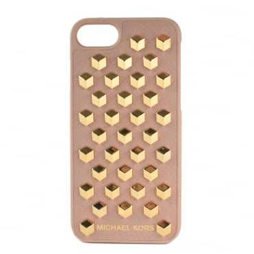Fawn Leather Studded iPhone 7 Case