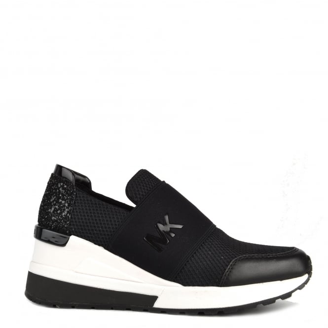 MICHAEL by Michael Kors Felix Black Mesh Trainer