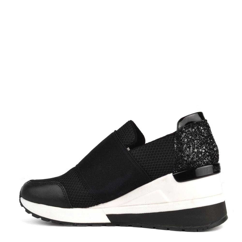 MICHAEL Michael Kors Felix Trainer Slip-On Wedge Sneakers QwabtSH