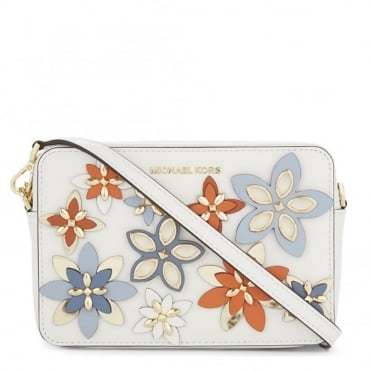 Flowers Optic White Medium Crossbody Bag