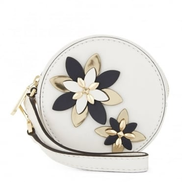 Flowers Optic White Pouches Small Coin Purse