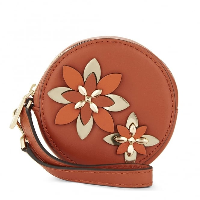 MICHAEL by Michael Kors Flowers Orange Pouches Small Coin Purse