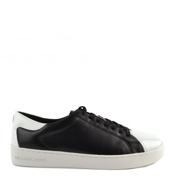 MICHAEL by Michael Kors Frankie Black Optic White Trainer