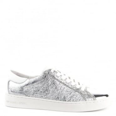 Frankie Silver Textured Leather Trainer