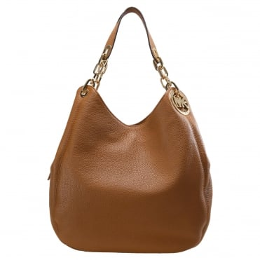 Fulton Hobo Acorn Leather Shoulder Bag