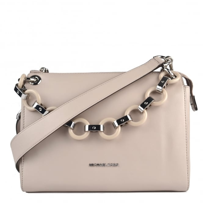 MICHAEL by Michael Kors Gianna Cement Grey Shoulder Bag