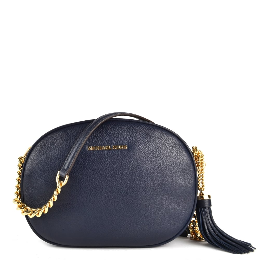 80bcd30d2574 MICHAEL by Michael Kors Ginny Admiral  Navy  Medium Crossbody