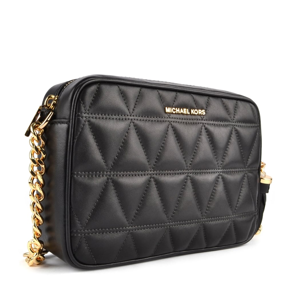 d7cd40cd5e MICHAEL MICHAEL KORS Ginny Black Quilted Leather Camera Bag