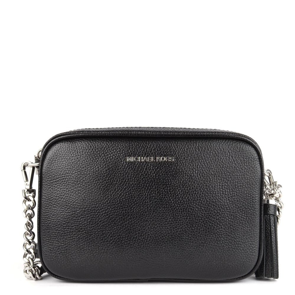 e277a1d03f7 MICHAEL by Michael Kors Ginny Black With Silver Hardware Medium Camera Bag